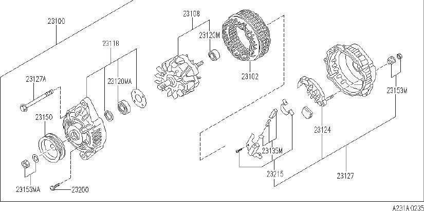 INFINITI J30 Alternator. System, MITSUBISHI, Electrical