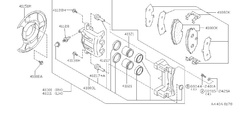 INFINITI J30 Remanufactured Caliper F. (Right, Front