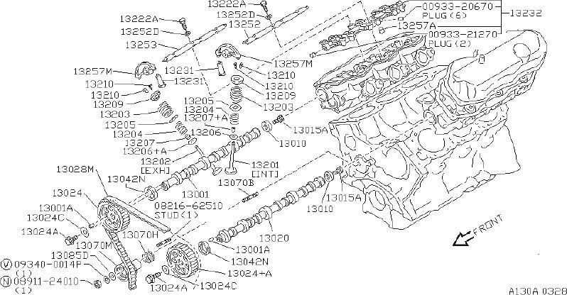 INFINITI QX4 Engine Timing Camshaft Sprocket. VALVE