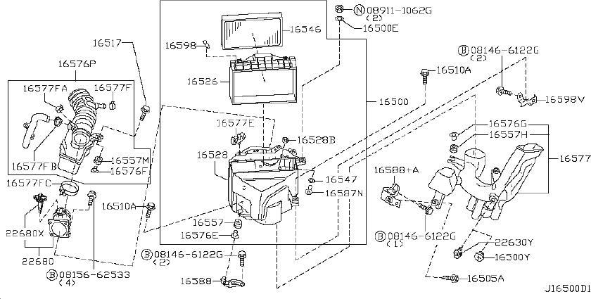 INFINITI QX4 Air Charge Temperature Sensor Grommet