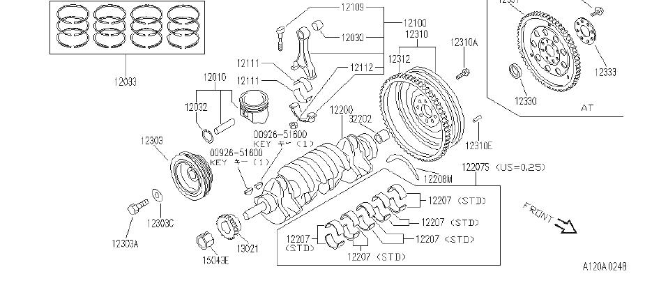INFINITI G20 Clutch Flywheel Ring Gear. ILLUSTRATION