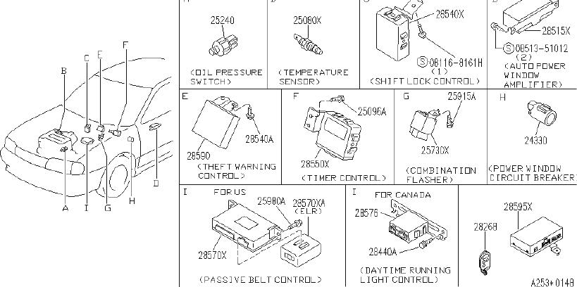 INFINITI G20 Controller Passive Belt. UNIT, ELECTRICAL