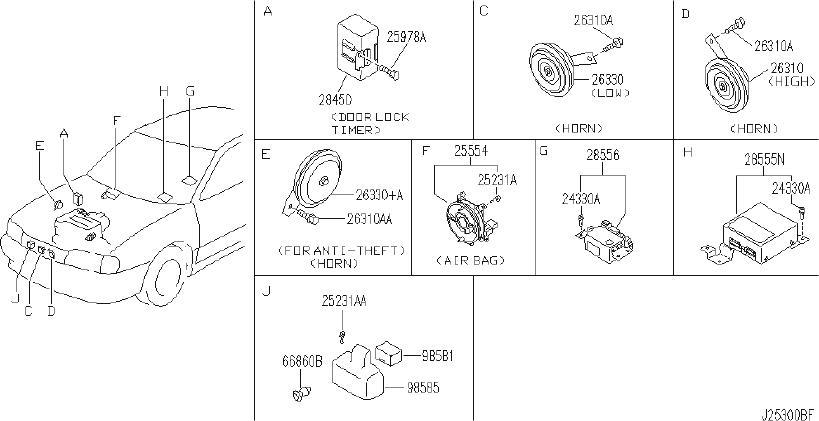 INFINITI G20 Engine Coolant Temperature Sender. SMALL