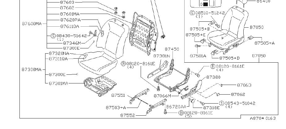 INFINITI G20 Head Rest Seat. (Front). FED, CAL, POWER