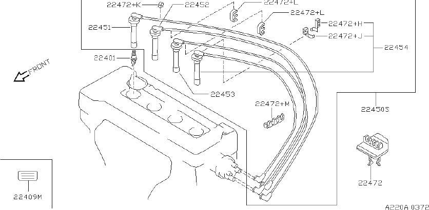 INFINITI I30 Spark Plug Wire Set. SUMITOMO, YAZAKI, SYSTEM