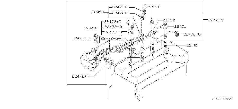 INFINITI I35 Spark Plug Wire Set. SUMITOMO, YAZAKI, System