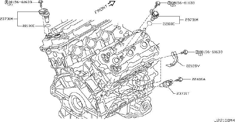 INFINITI FX35 Engine Crankshaft Position Sensor. CAM
