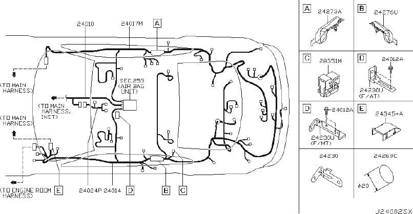 INFINITI G35 Harness Door. (Front). EGI, COUPE, ENGINE