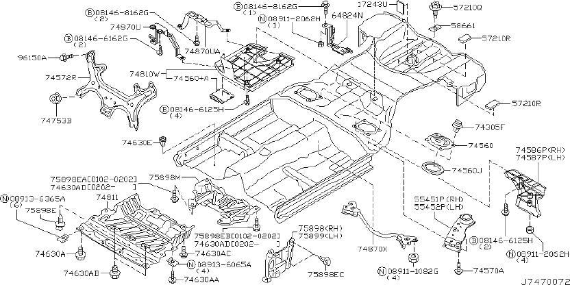 INFINITI G35 Radiator Support Splash Shield (Lower