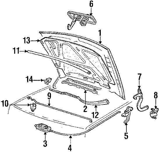 Volkswagen Jetta Latch. Lock assembly. Overslam bumper