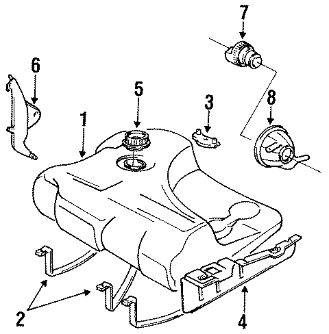 Volkswagen Jetta GLI Fuel Tank Sending Unit Lock Ring. AWD