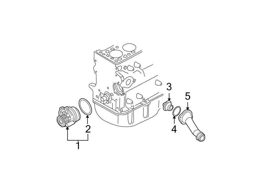 Volkswagen Beetle Convertible Engine Water Pump Assembly