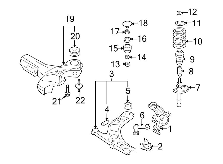 Volkswagen Beetle Convertible Suspension Strut