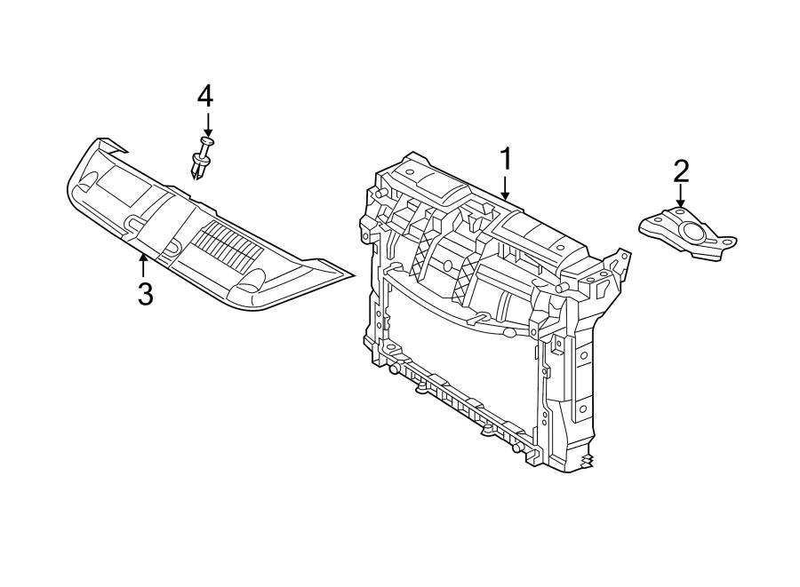 Volkswagen Beetle Convertible Radiator Support Panel