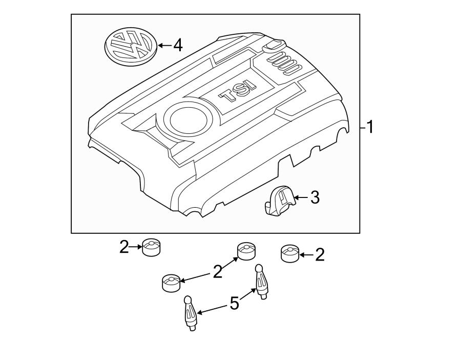 Volkswagen Beetle Engine Cover. 1.8 LITER. 2014-18. VIN