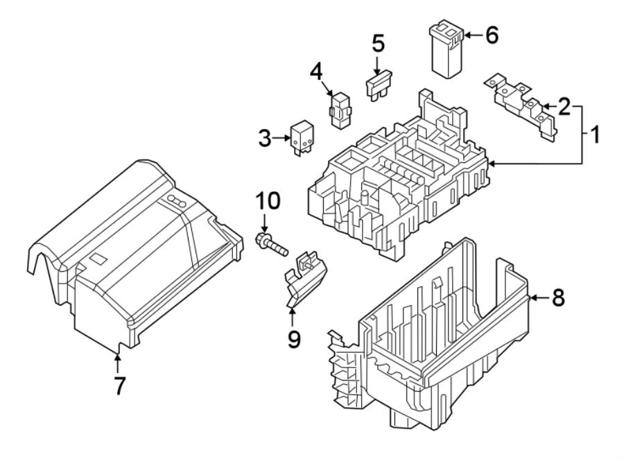 Volkswagen Beetle Fuse Box Cover. Liter, ENGINE