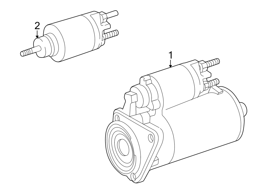 Volkswagen Cabrio Starter Motor. Trans, Auto, Manual