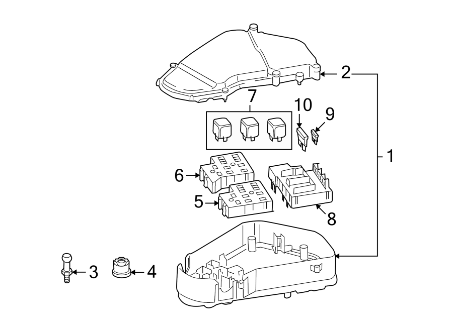 Volkswagen Touareg Fuse. COMPARTMENT, Amp, PASSENGER