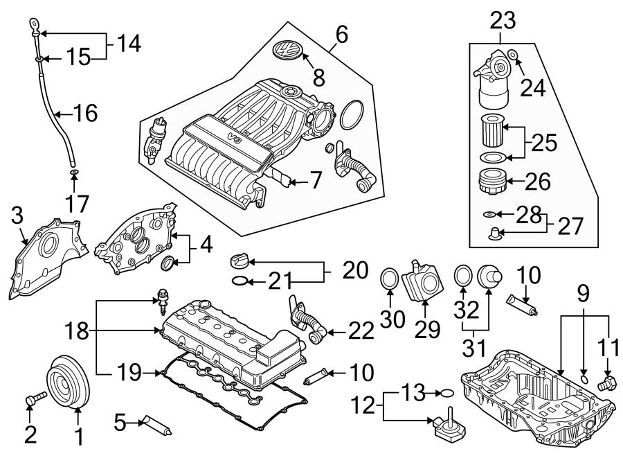 Volkswagen Touareg Engine Intake Manifold. 3.6 LITER, from