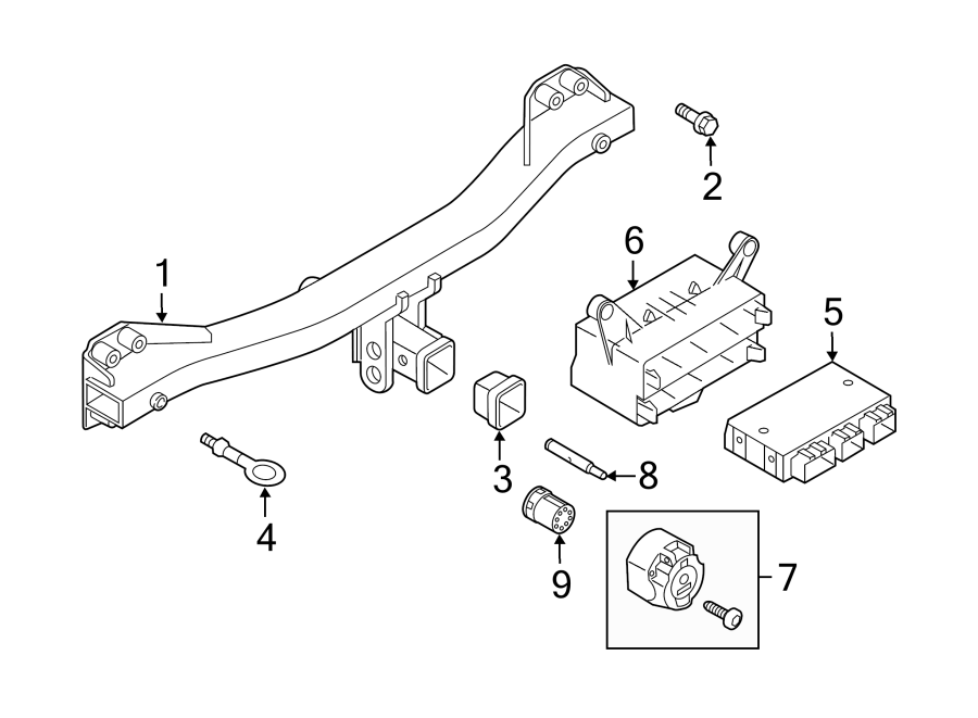 Volkswagen Touareg Trailer Tow Harness Connector. 2011-14
