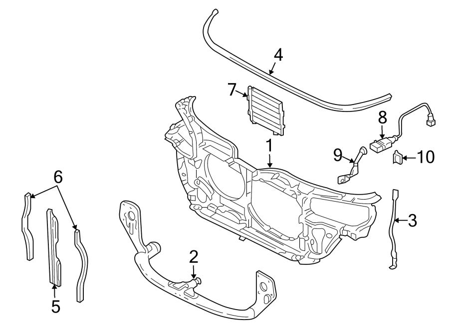 Volkswagen Passat Wagon Radiator Support Panel