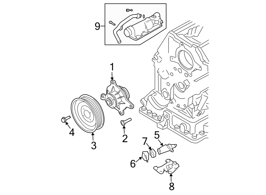 Volkswagen Passat Wagon Engine Water Pump Pulley. 4.0