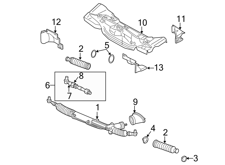 Volkswagen Passat Wagon Rack and Pinion Assembly. Steering