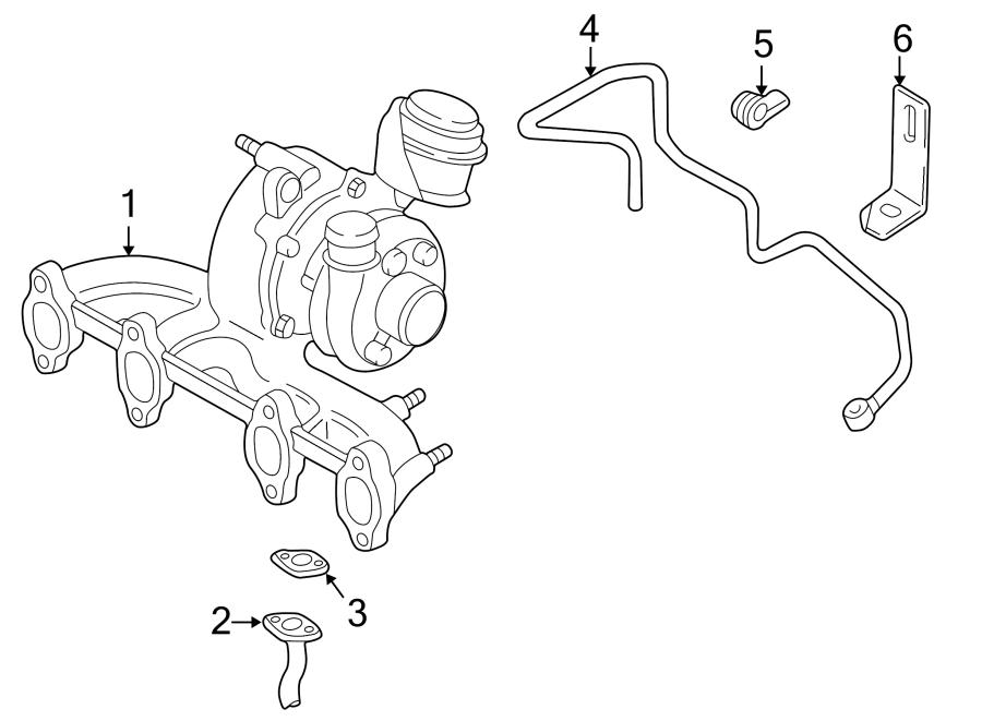 Volkswagen Golf Exhaust manifold. Exmanturbo. Turbocharger
