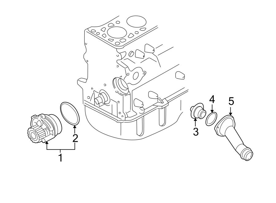 Volkswagen Jetta Engine Coolant Thermostat Housing