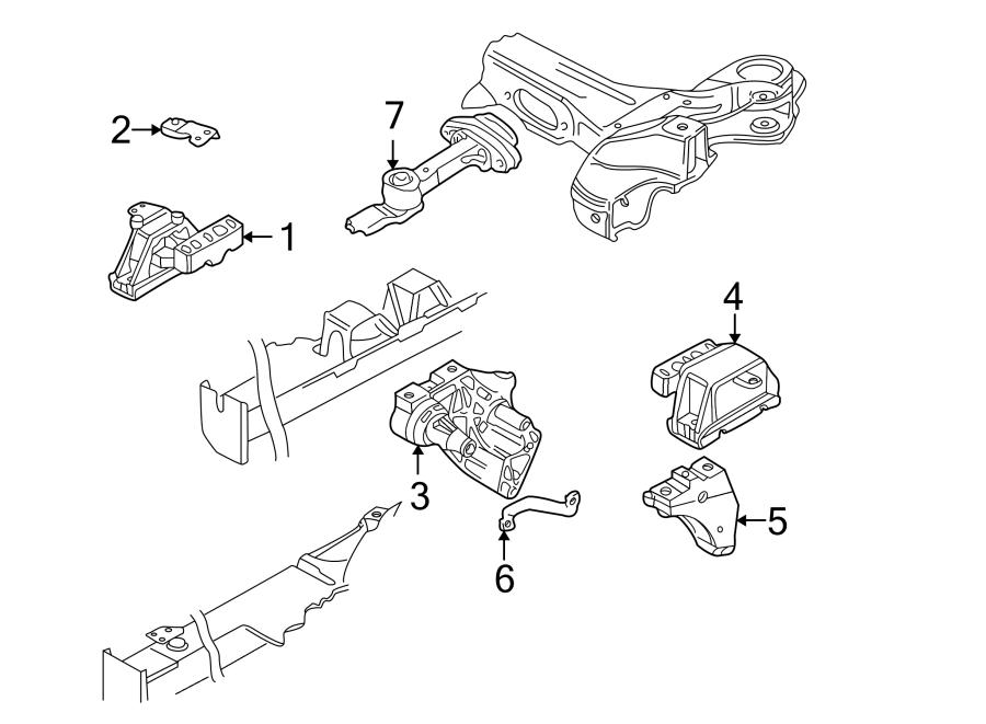 Volkswagen Jetta Automatic Transmission Mount Bracket