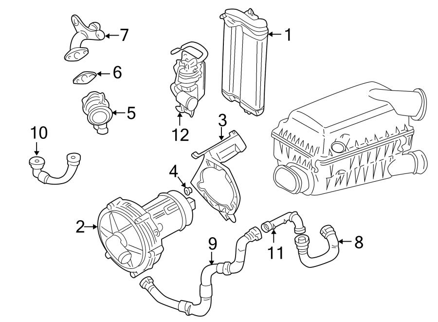 Volkswagen Jetta Wagon Secondary Air Injection Pump Hose
