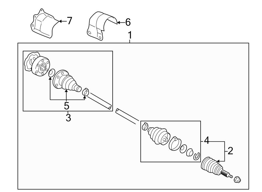 Volkswagen Jetta GLI Cv axle assembly. Right, manual, make