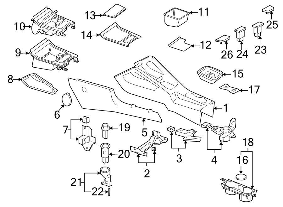 Volkswagen Jetta Console Mat. Anthracite, WAGON, Sedan