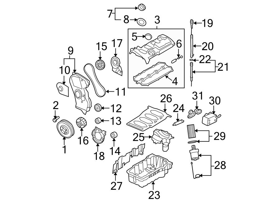 Volkswagen Jetta Engine Timing Crankshaft Gear. Engine