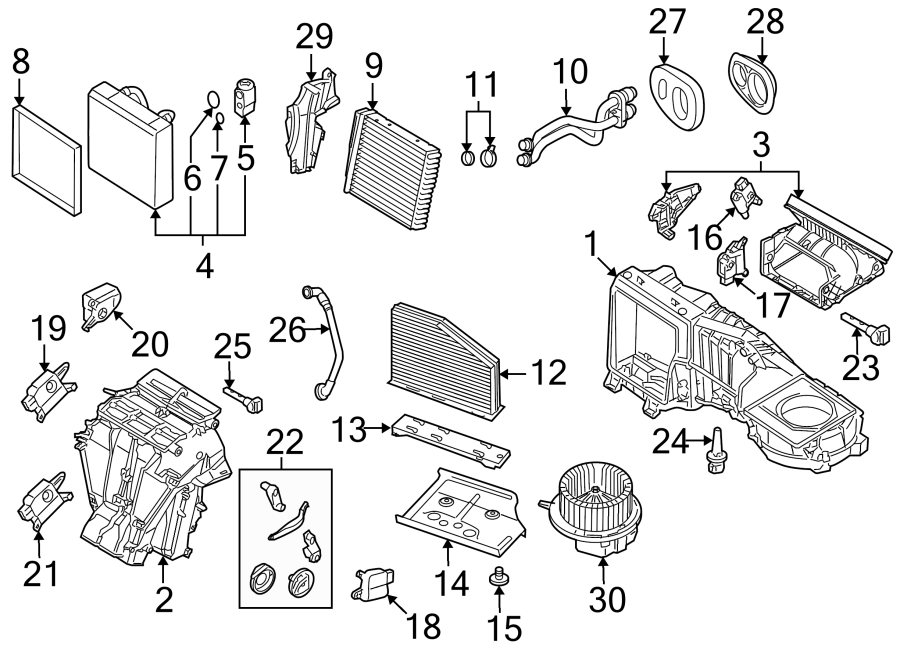 Volkswagen R32 Duct. Air. Intake. Cabin. HVAC Inlet
