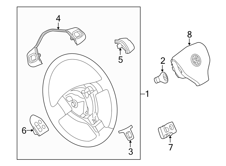 Volkswagen GTI Steering Wheel Transmission Shift Control