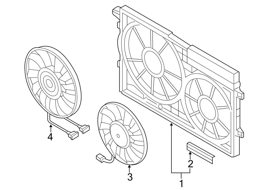 Volkswagen Jetta GLI Engine Cooling Fan Motor. Left, LITER