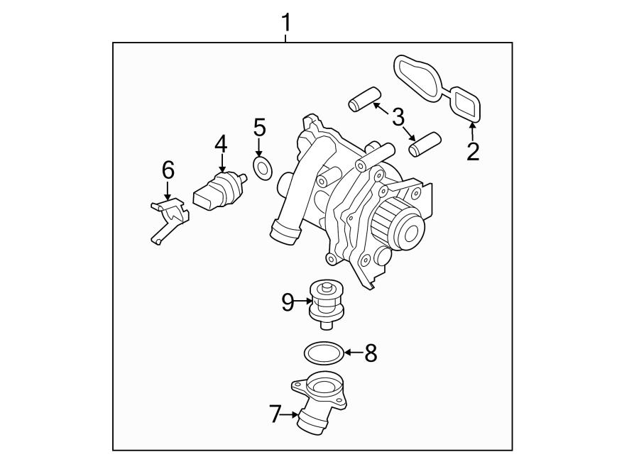 Volkswagen Passat Engine Coolant Thermostat Housing. Liter