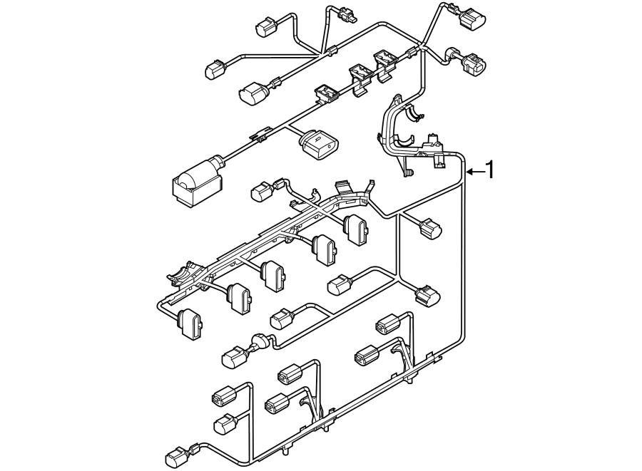 Volkswagen Jetta Engine Wiring Harness. LITER, WSULEV