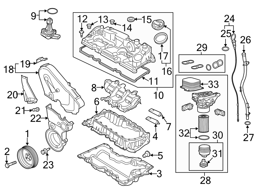 Volkswagen Jetta Engine Oil Pan. Lower, LITER, BEARINGS