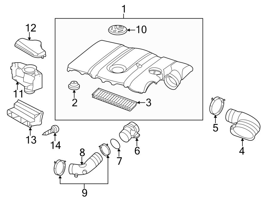 Volkswagen Jetta Engine Air Intake Hose Adapter. 2.5 LITER