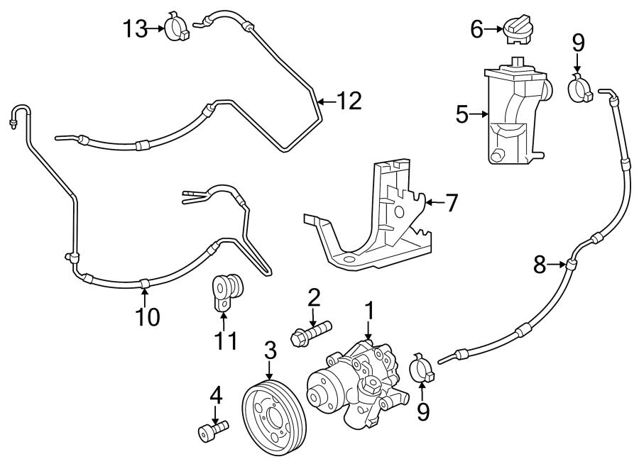 Volkswagen Jetta Power Steering Pump. GEAR, LINKAGE, HOSES