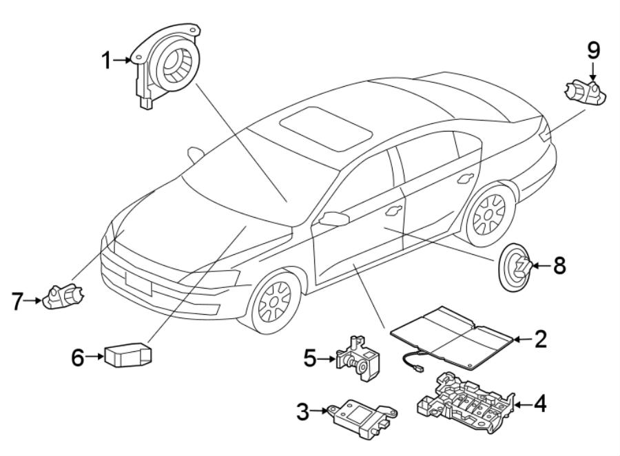 Volkswagen Jetta Hybrid Air Bag Seat Sensor Mat. Occupant