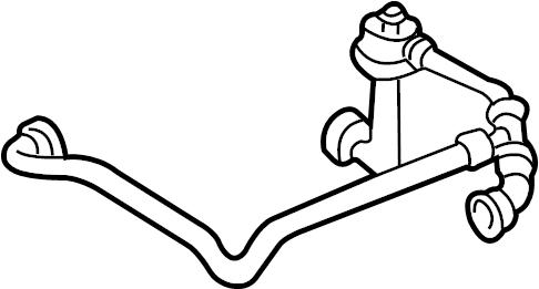 Volkswagen Passat Breather tube. PCV Valve Hose. VACUUM