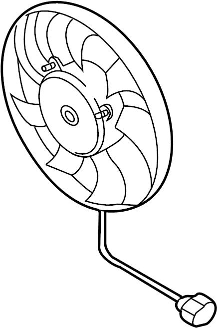 Volkswagen Jetta Engine Cooling Fan Motor. Right, LITER