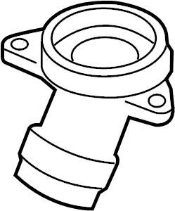 Volkswagen CC Engine Coolant Thermostat Housing. Liter