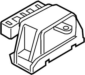 Volkswagen Beetle Manual Transmission Mount. LITER, Engine