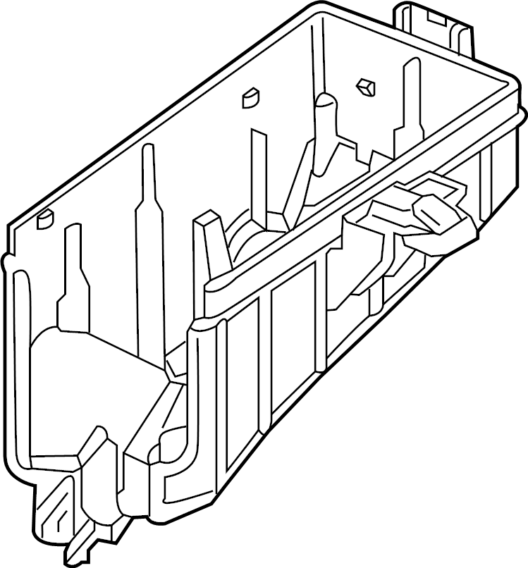 Volkswagen e-Golf Fuse. Housing. Relay. (Lower