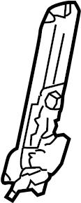 Volkswagen Touareg Seat Belt Height Adjuster. Manual