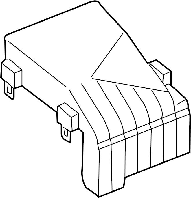 Volkswagen Passat Fuse Box Cover. ENGINE, COMPARTMENT